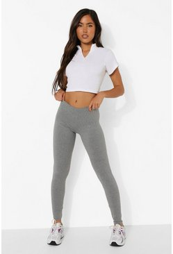 Grey Marl Basic Leggings