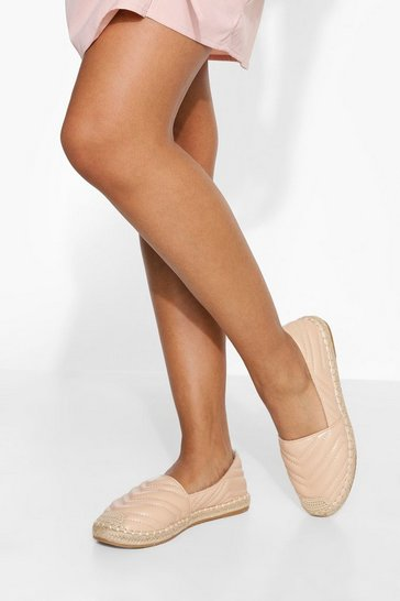Nude Quilted Espadrille