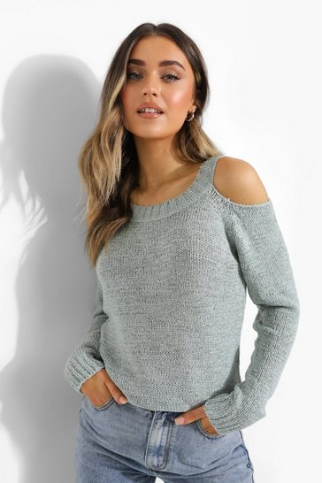 Sage green Cut Out Jumper