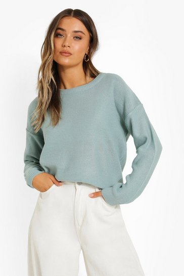 Mint green Round Neck Jumper