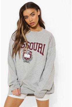 Missouri Super Oversized Sweater , Grey marl Серый