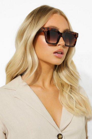 Brown Super Chunky Oversized Tort Frame Sunglasses