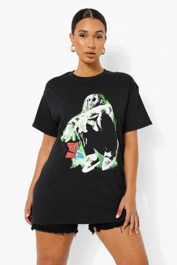 Black Ty Dolla Sign License Print Oversized T-shirt