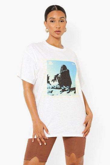 White Ty Dolla Sign License Print Oversized T-Shirt
