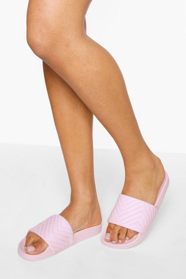 Nude Quilted Sliders