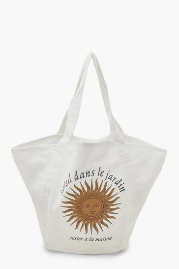 White Oversized Soleil Beach Bag