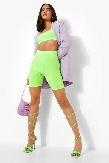 Neon-green neon Twist Vamp Wrap Up Sandal