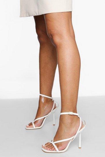 White Strappy 2 Part Sandal