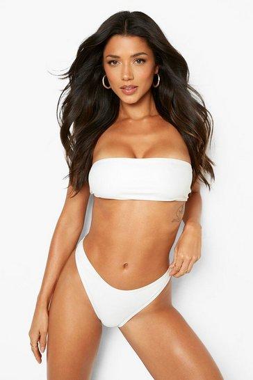 White Recycled Bandeau Bikini Top