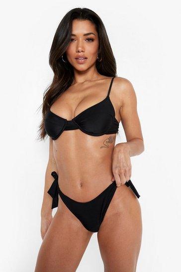 Black Recycled Underwired Bikini Top