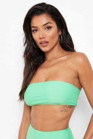 Green Recycled Bandeau Bikini Top