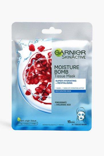 Blue Garnier Moisture Bomb Pomegranate Face Mask