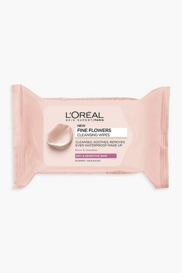 Clear L'oreal Paris Fine Flowers Cleansing Wipes