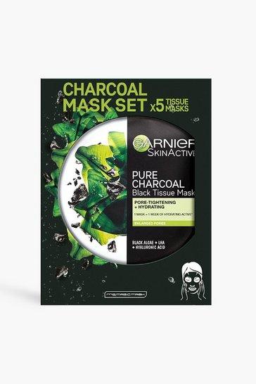 Clear Garnier Charcoal And Algae Sheet Masks X5