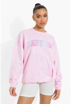 Pink Oversized Babygirl Sweater