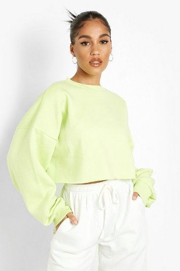 Lime green Recycled Cropped Sweater