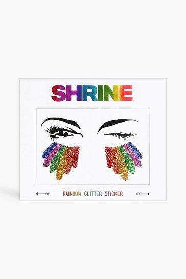 Multi Shrine Rainbow Glitter Sticker