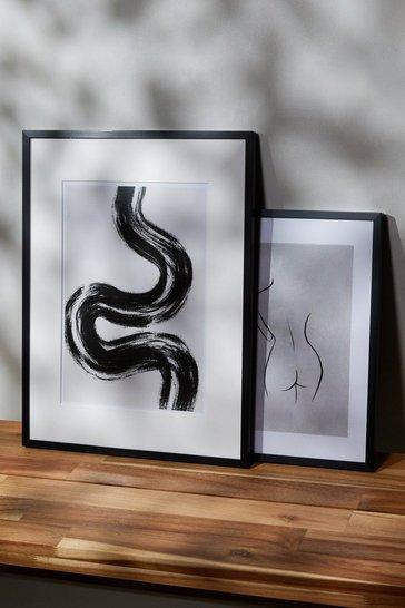 Peechy Prints Black Swirl A4 Print