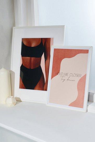 Nude Peechy Prints Hold Me Closer A4 Print