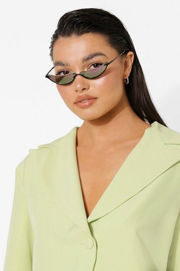 Pink Rimless Framed Tinted Sunglasses