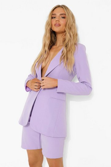 Lilac purple Fitted Tailored Blazer