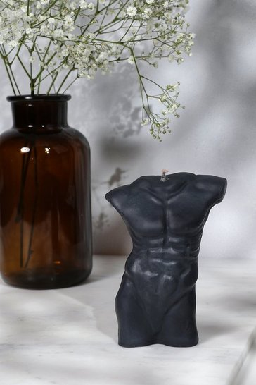 Black Masculine Torso Candle