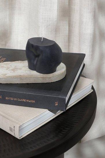 Black Booty Shape Candle