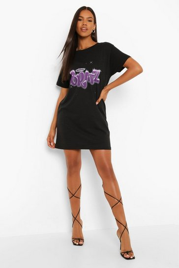 Black Bratz Licence T Shirt Dress