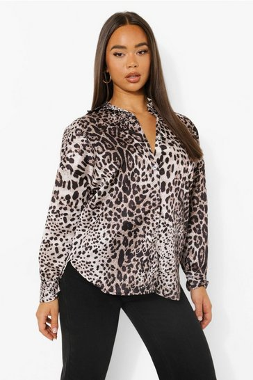 Leopard Print Oversized Shirt