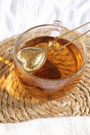 Gold metallic Brass Heart Tea Infuser