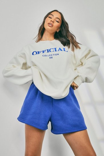 Cobalt blue Official Collection Embroidered Short Tracksuit