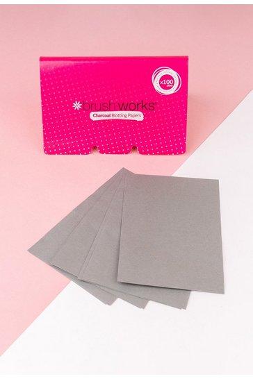 Pink Brushworks Charcoal Blotting Paper 100 Sheets