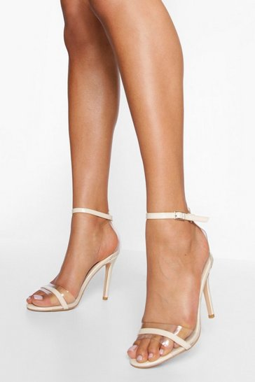 Nude Clear Barely There Heels