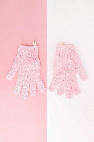 Pink Brushworks Exfoliating Gloves
