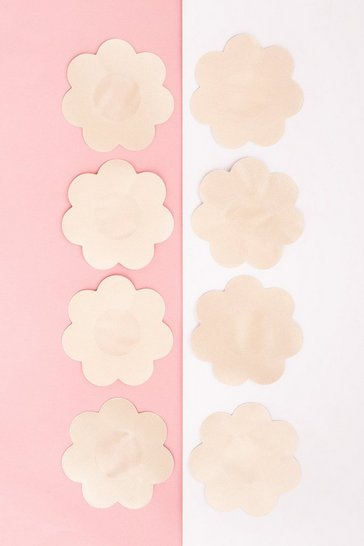Brushworks Nude Satin Nipple Covers - 4 Pairs