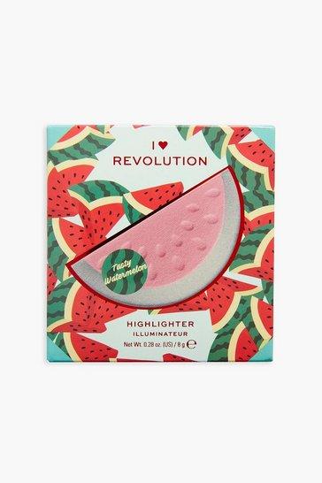 Gold metallic I Heart Revolution 3d Watermelon Highlighter