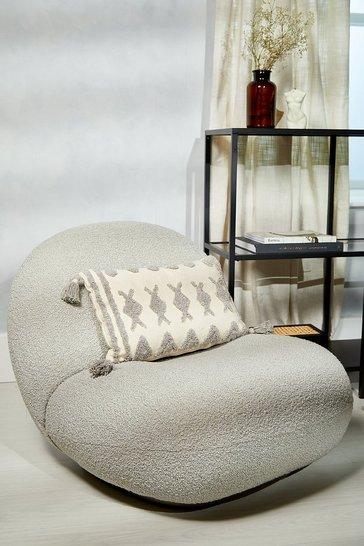 Rust orange Aztec Tassel Cushion