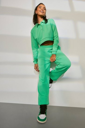 Green Collared Sweater Tracksuit