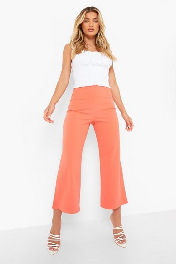 Pink Wide Leg Crepe Culottes