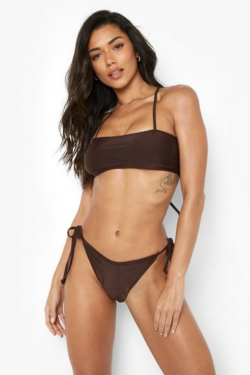 Chocolate brown Tie Side Bikini Briefs