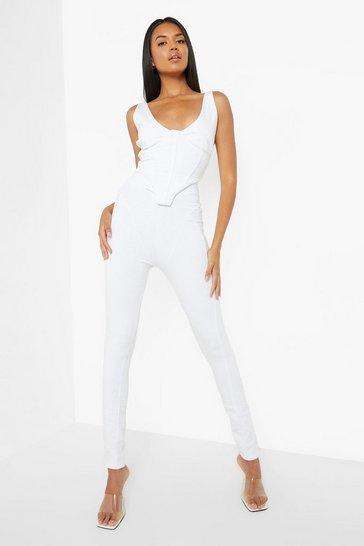 White Structured Leggings