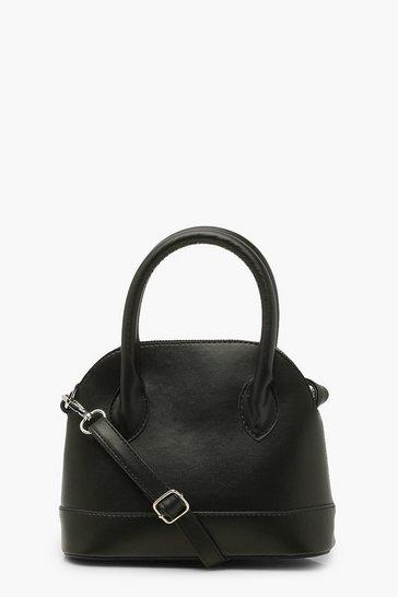 Black Smooth Pu Cross Body Bag