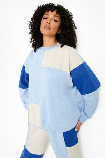 Cobalt Colour Block Sweater