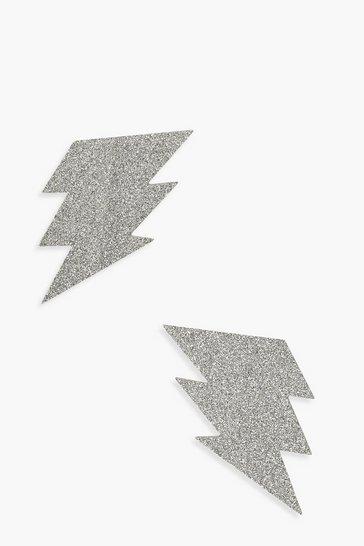 Silver Lightning Bolt Nipple Cover