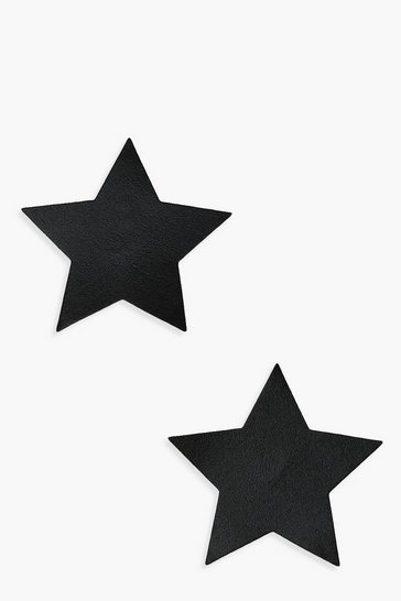 Black Foil Star Nipple Cover