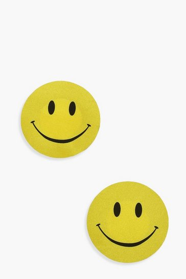 Yellow Smiley Face Nipple Cover