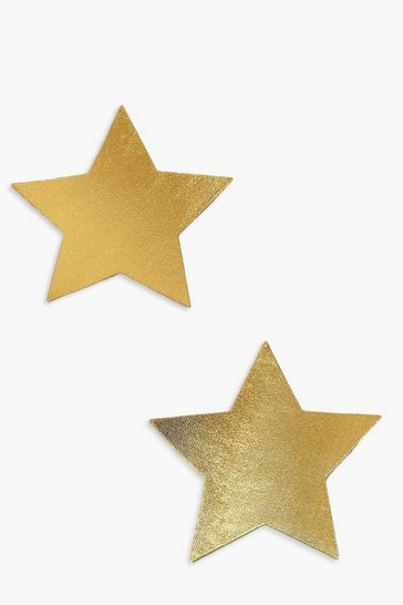 Gold metallic Foil Star Nipple Cover