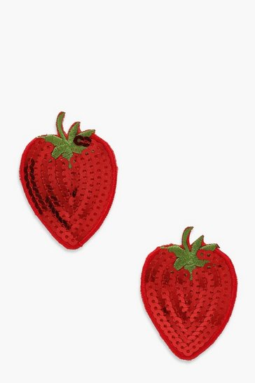 Red Strawberry Sequins Nipple Cover