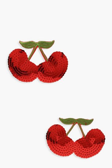 Red Cherry Sequins Nipple Covers