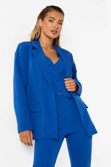 Azure blue Tailored Fitted Blazer